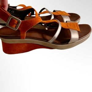 Audley Shoes - AUDLEY LONDON LEATHER SANDALS WEDGES 38 = US 7.5